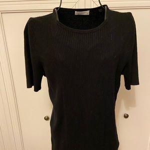 Equipment Short Sleeve Black Sweater Sz L